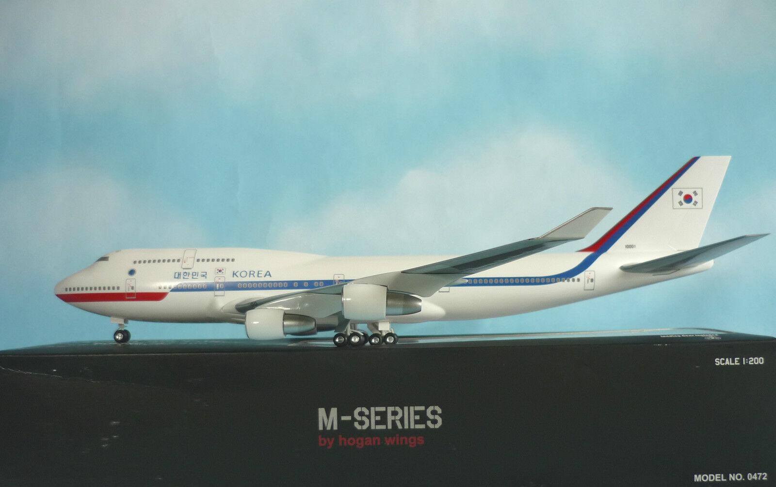 Hogan Wings 1 200 Boeing 747-400 Korea Air Force 0472 + Herpa Wings Katalog