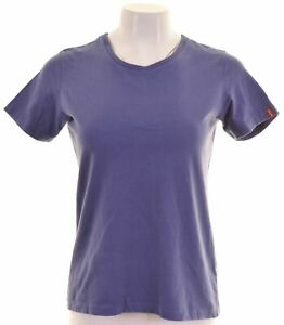 Levi-039-s-Damen-T-Shirt-Top-Groesse-14-Large-blau-Baumwolle-an07