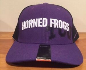 san francisco 6f417 1d8ec Image is loading TCU-Horned-Frogs-Nike-Classic99-Stretch-Fit-Hat-