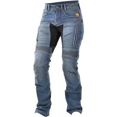 Trilobite Parado Black Blue Ladies Motorcycle Jeans Aramid Jeans with Protector