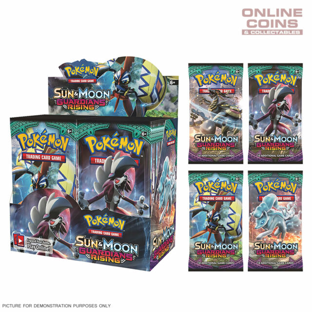 POKEMON TCG Sun & Moon Boosters GUARDIANS RISING 4 x10 Card Booster Packs 40CARD