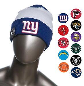 c23ed1d5d New Era NFL Team Cuffed Beanies   Knit Caps Fall with Raised Puff ...