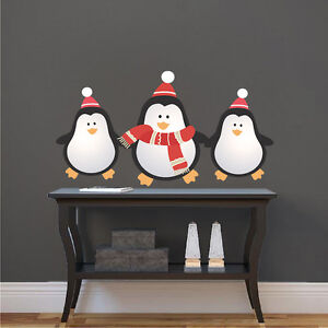 image is loading christmas penguins wall decals christmas party wall and