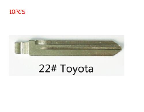 10PCs KEYDIY Universal Remotes Flip Blade 22# Toy47FH for Toyota