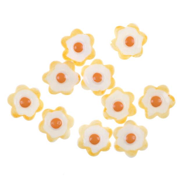 10Pcs/Set Eggs Miniature Food Models Dollhouse Accessories vK
