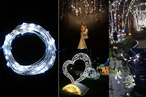 Christmas Tree LED String Fairy Lights Garden Outdoor Xmas Party Lamp Battery US