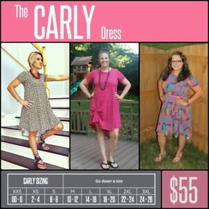 5809c57fdc Mystery Carly Dress LuLaRoe XXS XS S M L XL 2XL 3XL Next Day Free ...