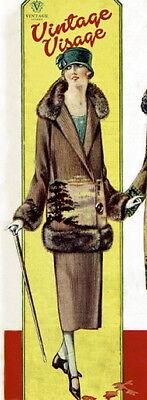Vintage Visage Knitting Pattern for Downton Abbey era 1920s flapper jacket coat