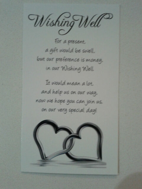 Wishing well cards Hearts in the water x 50