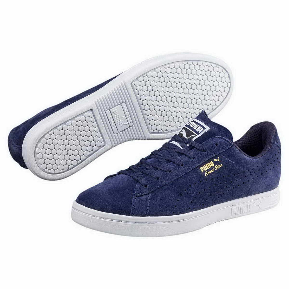 Puma Sneaker Court Star Suede softfoam peacoat blue Freizeit Turnschuhe 364621