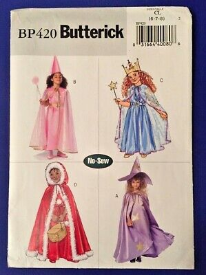Butterick B4256 easy to sew witch costume sewing pattern size 6,7,8