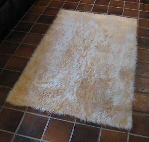 Image Is Loading Light Beige Flokati Faux Fur Rug Soft Amp