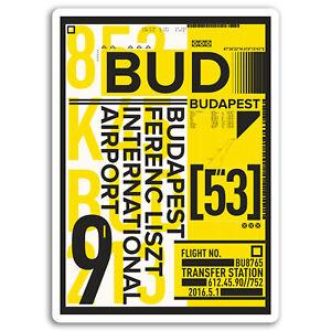 2-x-10cm-Budapest-Airport-Vinyl-Stickers-Hungary-Sticker-Laptop-Luggage-17156