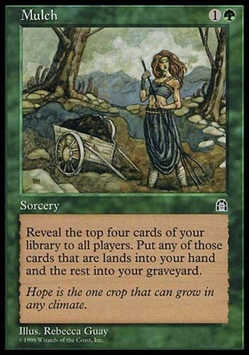 4x Mulch Stronghold MtG Magic Green Common 4 x4 Card Cards