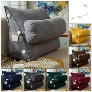 Fine Details About Cotton Sofa Bed Chair Rest Neck Support Wedge Cushion Adjustable Back Fip Pillow Theyellowbook Wood Chair Design Ideas Theyellowbookinfo