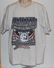 UCONN Huskies 2004 Men's + Women's Basketball NCCA Championships Men's T Shirt