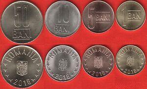 ROMANIA SET OF 4 COINS 1 5 10 50 BANI 2005 UNC