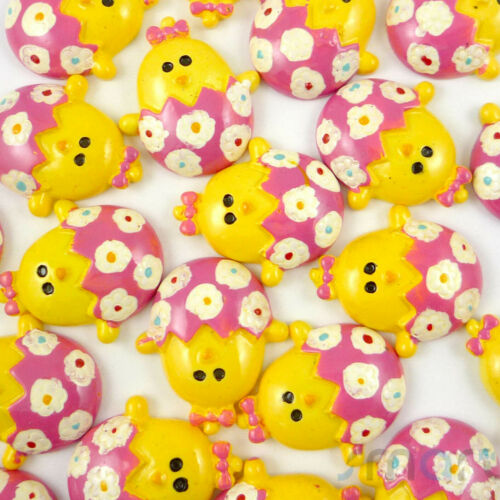 20pcs Cartoon Resin Flatback Cabochon Hair Bow Center DIY Craft 9 Designs-K