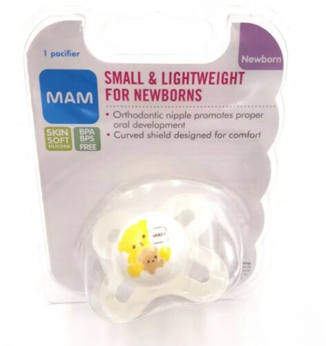 MAM Infant Baby Pacify 0-3 Months Newborn Yellow Bear Set Of 3 New H3 Sealed