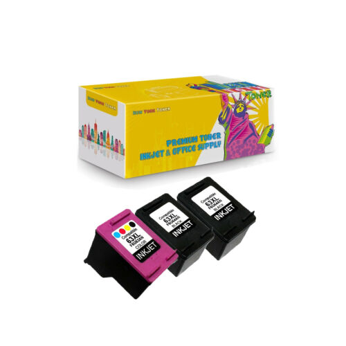 3PK Compatible 2X F6U64AN F6U63AN Ink for HP 63XL DeskJet 1110 All-in-One