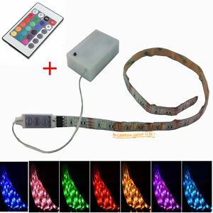 fonctionne piles rgb led flexible bande lumineuse ir remote spectacle moto ebay. Black Bedroom Furniture Sets. Home Design Ideas