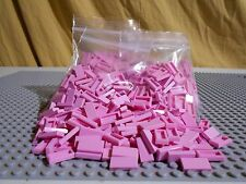 Lego Lot of 100 Pink 1x2 Smooth Flat Tiles NEW BULK Great Gift Idea