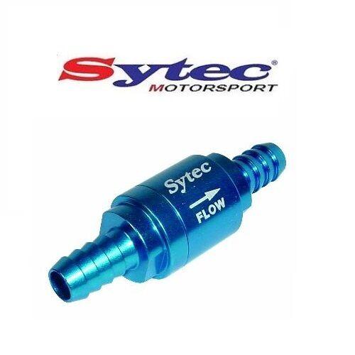 8mm PUSH ON HOSE SYTEC MOTORSPORT ONE WAY FUEL VALVE CHECK NON RETURN BLUE