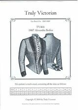 Truly Victorian TV466 late 1880's Alexandra bodice jacket blouse sewing pattern