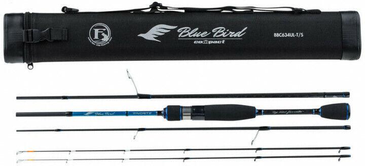 FAVORITE blu Bird COMPACT Travel Fishing Ultra Light Spinning Rod perch trout
