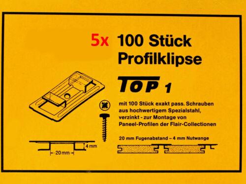 5 X 100 Pcs Joints griffes profil PLANCHE griffes Agrafeuse griffes muraux griffes 4//20 B