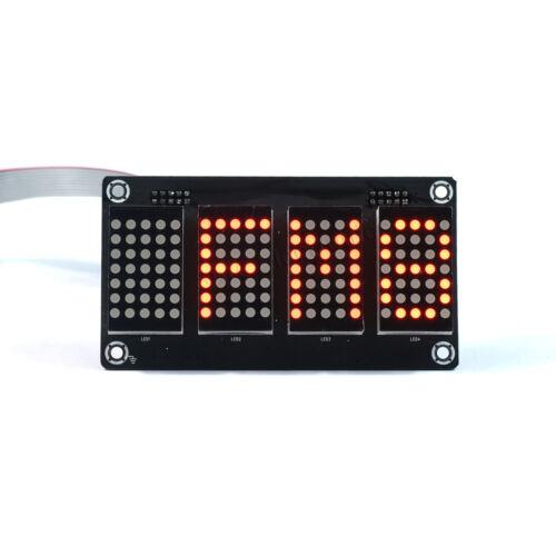 "1.2/"" 4 digit 5X7 Red Dot Matrix Unit Board With Demo Board"