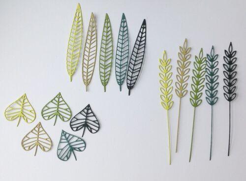Leafy Foliage Die Cuts Green Mix 3 designs
