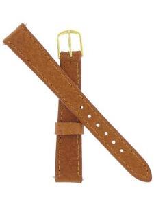 Genuine-Timex-13mm-Brown-Genuine-Pigskin-Gold-Tone-Buckle-TX33313TN