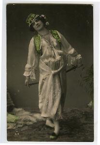 c 1908 Glamor Glamour SWORD DANCER Dance Dancing Beauty photo postcard