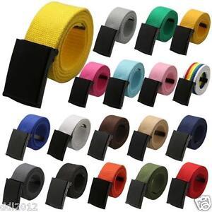 Unisex-Waist-Belt-Mens-Womens-Plain-Webbing-Waistband-Casual-Canvas-Casual-Belts