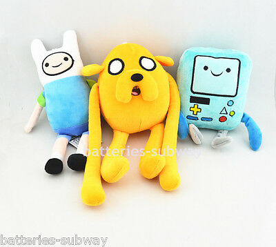 3 pcs New Adventure Time with Finn and Jake Beemo stuffed Soft plush dolls toy