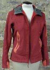red ARCTERYX hyllus hoody softshell jacket fleece lining full zip S M