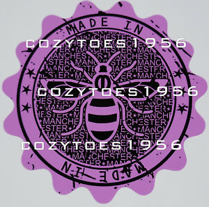 Made In Manchester Bee Stamp Purple car van window bumper sticker decal vinyl