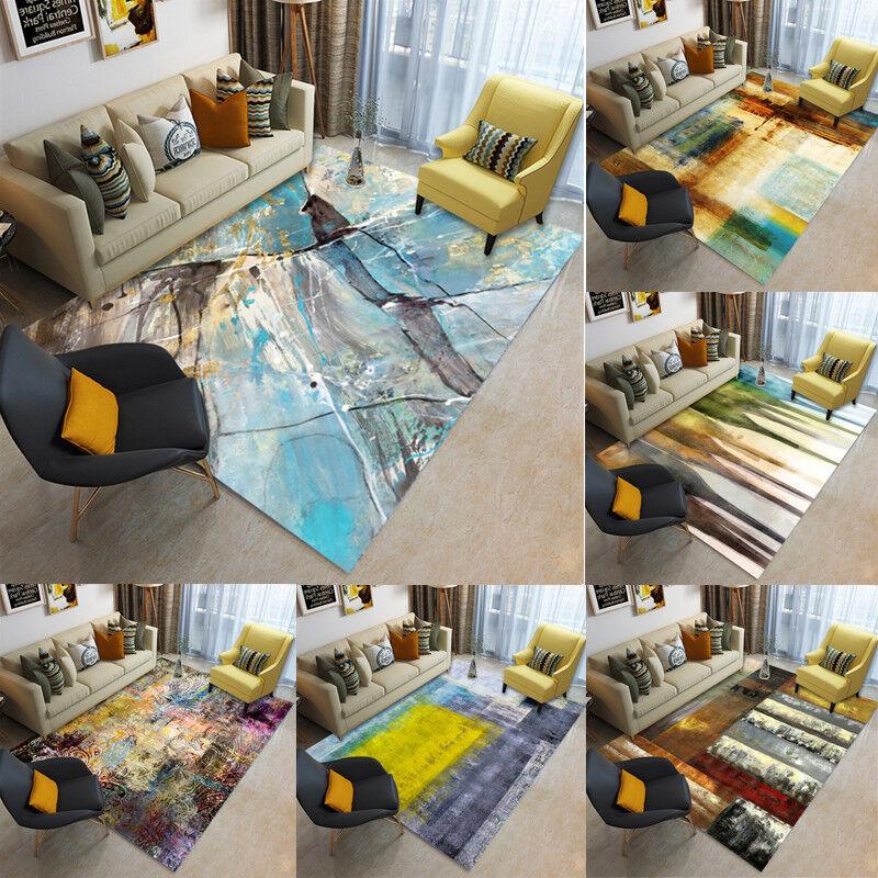Teppich Wohnzimmer Modern Designer Kurzflor Geometrisch Muster