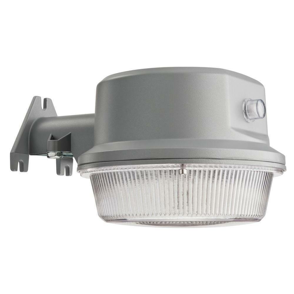 Lithonia Lighting gris al aire libre luz de área LED integrado 4000K