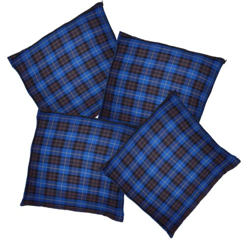 Blue Tartan Throw Cushion Cover//Case Burns Night Christmas Decoration
