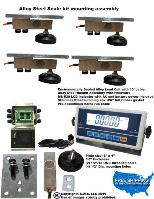 0-5000lb Livestock Scale Kit for Hogs Goats Sheep Alpacas Pigs DIY scale kit