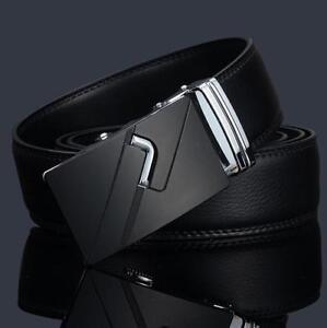 Men-039-s-Genuine-Leather-Automatic-Buckle-Belts-Fashion-Waist-Strap-Belt-Waistband