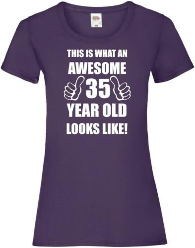 35th 35 Years Old Thirty Fifth Birthday Presents Womens Funny Awesome T-Shirt