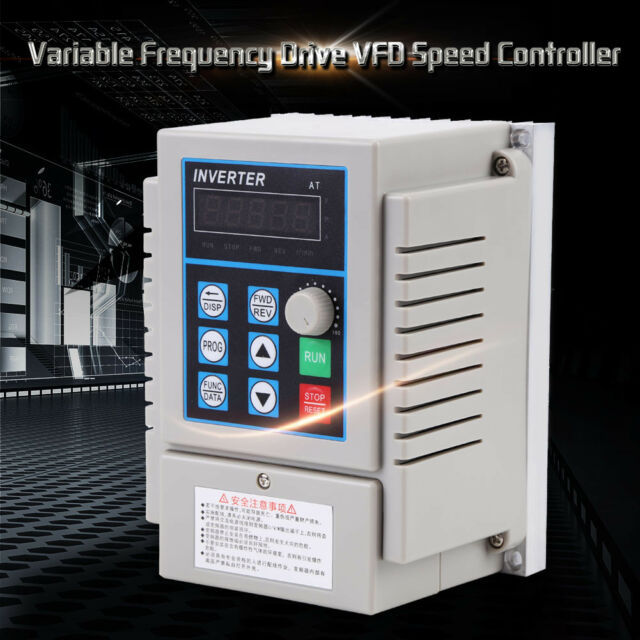 220V 0.75kW Single Phase 3PH Variable Frequency Drive VFD Speed Controller zg