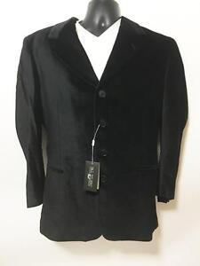 Pal Zilieri Forall Pull Italy Men Black Velvet Sports Coat Jacket $799 NWT Sz 42