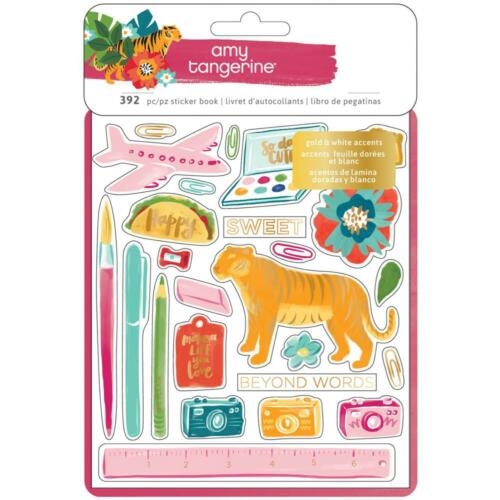 American Crafts Amy Tangerine Hustle /& Heart Sticker Book 8 Pages