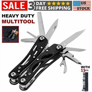 Multi Tool Knife Pliers Tactical Folding Saw Screwdriver Outdoor Emergency Kit