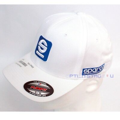 Sparco Official Racing S Icon Black FlexFit Baseball Cap Hat Size S//M SP11N