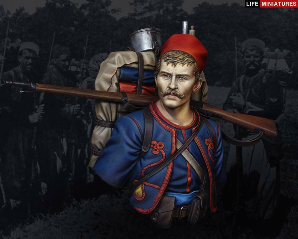 Life Miniatures French Zouave 1914 1 10th Bust Unpainted kit